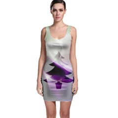 Purple Christmas Tree Sleeveless Bodycon Dress