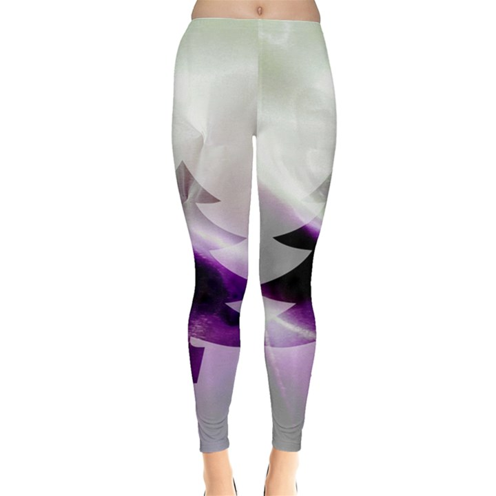 Purple Christmas Tree Leggings