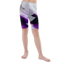 Purple Christmas Tree Kids  Mid Length Swim Shorts