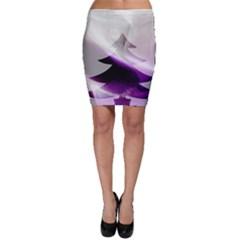 Purple Christmas Tree Bodycon Skirt