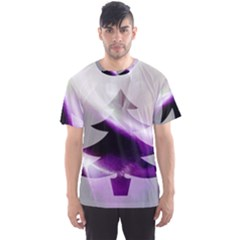 Purple Christmas Tree Men s Sport Mesh Tee
