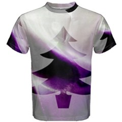 Purple Christmas Tree Men s Cotton Tee