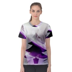 Purple Christmas Tree Women s Sport Mesh Tee