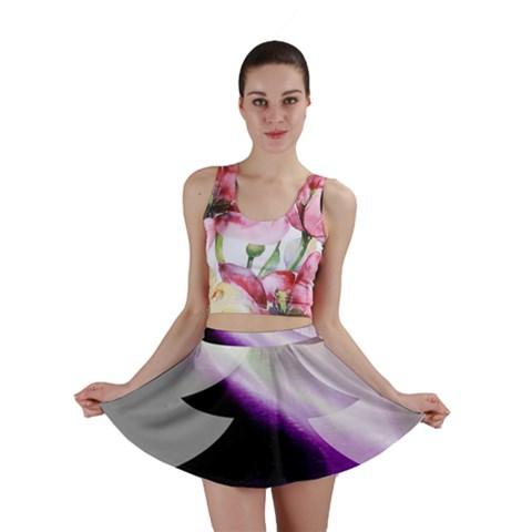 Purple Christmas Tree Mini Skirt