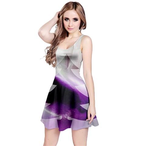 Purple Christmas Tree Reversible Sleeveless Dress