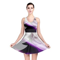 Purple Christmas Tree Reversible Skater Dress