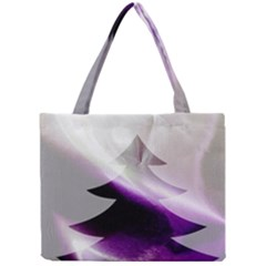 Purple Christmas Tree Mini Tote Bag
