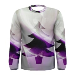 Purple Christmas Tree Men s Long Sleeve Tee