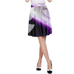 Purple Christmas Tree A Line Skirt
