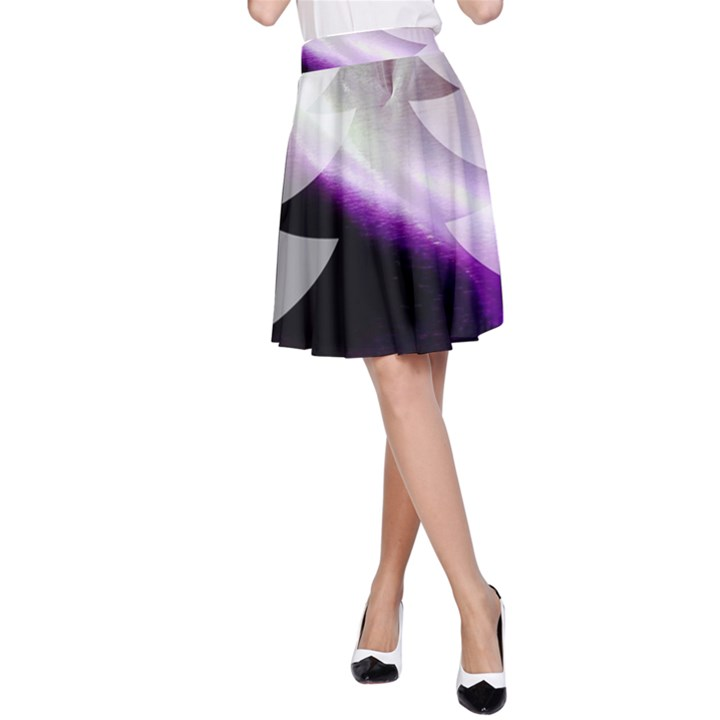 Purple Christmas Tree A-Line Skirt