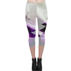 Purple Christmas Tree Capri Leggings