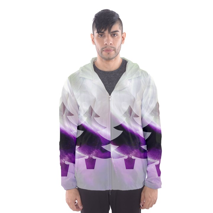 Purple Christmas Tree Hooded Wind Breaker (Men)
