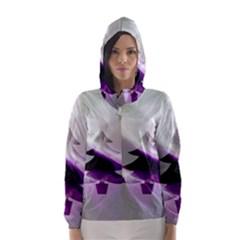 Purple Christmas Tree Hooded Wind Breaker (women)