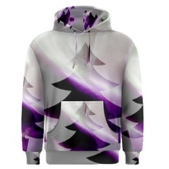 Purple Christmas Tree Men s Pullover Hoodie