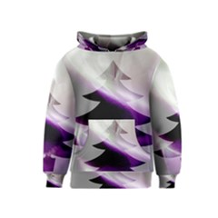 Purple Christmas Tree Kids  Pullover Hoodie
