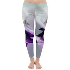 Purple Christmas Tree Winter Leggings