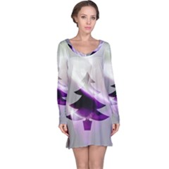 Purple Christmas Tree Long Sleeve Nightdress