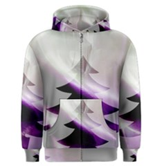 Purple Christmas Tree Men s Zipper Hoodie