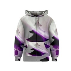 Purple Christmas Tree Kids  Zipper Hoodie