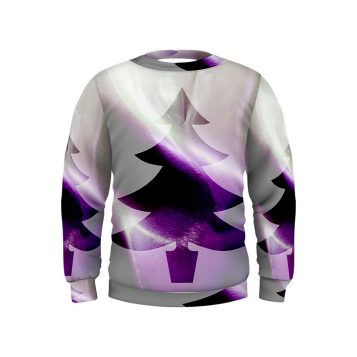 Purple Christmas Tree Kids  Sweatshirt