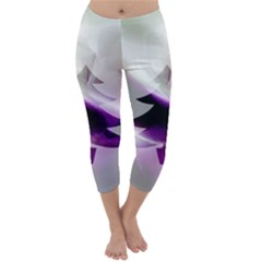 Purple Christmas Tree Capri Winter Leggings