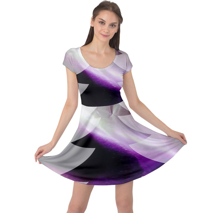 Purple Christmas Tree Cap Sleeve Dresses