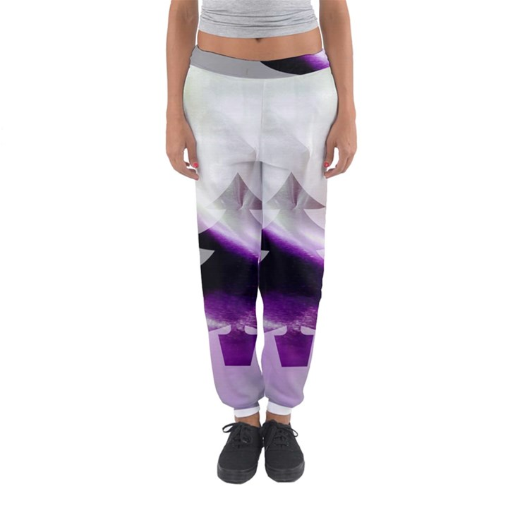 Purple Christmas Tree Women s Jogger Sweatpants