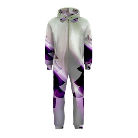 Purple Christmas Tree Hooded Jumpsuit (Kids)