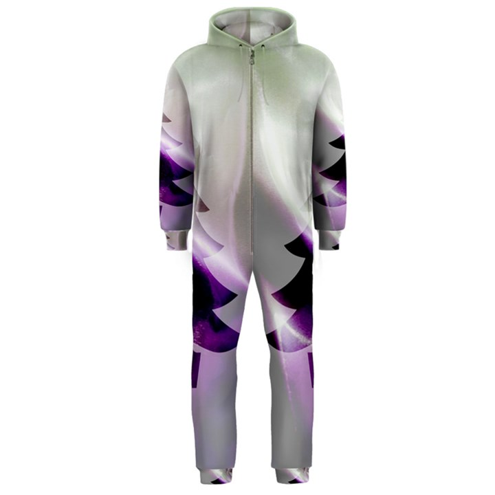 Purple Christmas Tree Hooded Jumpsuit (Men)