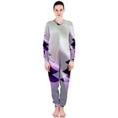 Purple Christmas Tree OnePiece Jumpsuit (Ladies)