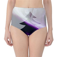 Purple Christmas Tree High-Waist Bikini Bottoms