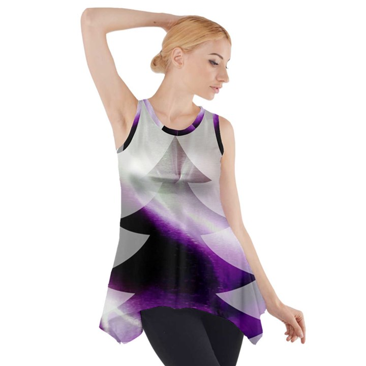 Purple Christmas Tree Side Drop Tank Tunic