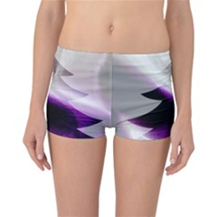 Purple Christmas Tree Reversible Boyleg Bikini Bottoms