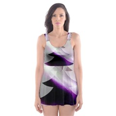 Purple Christmas Tree Skater Dress Swimsuit