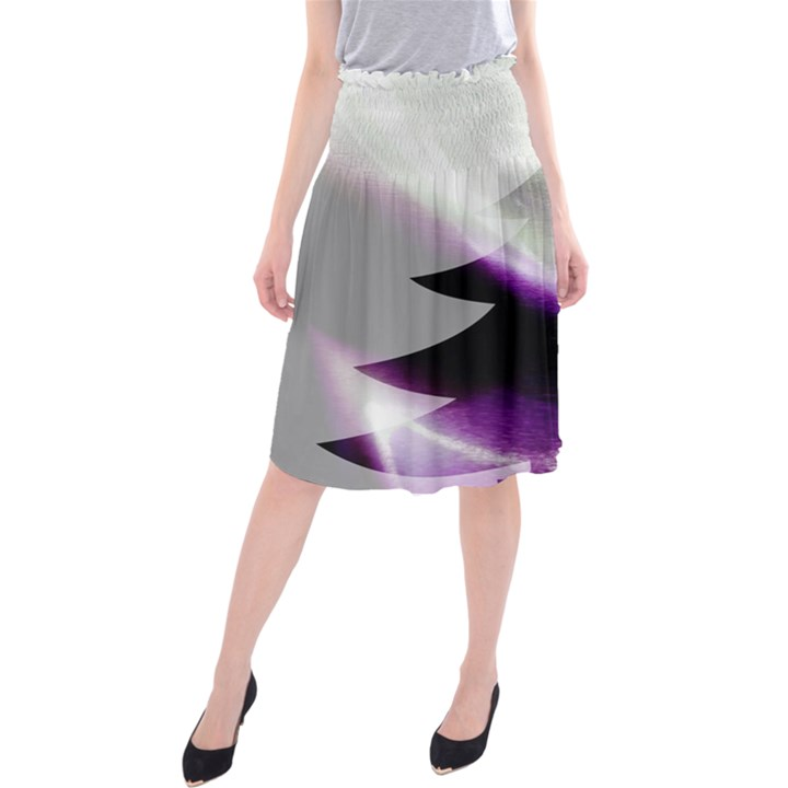 Purple Christmas Tree Midi Beach Skirt