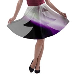Purple Christmas Tree A-line Skater Skirt