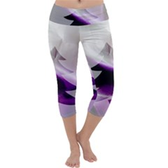 Purple Christmas Tree Capri Yoga Leggings