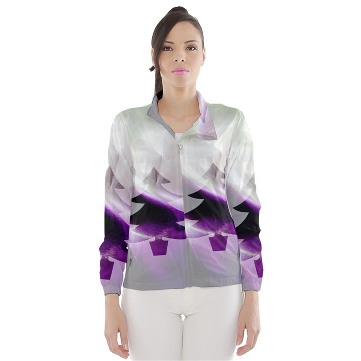 Purple Christmas Tree Wind Breaker (Women)