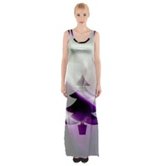 Purple Christmas Tree Maxi Thigh Split Dress