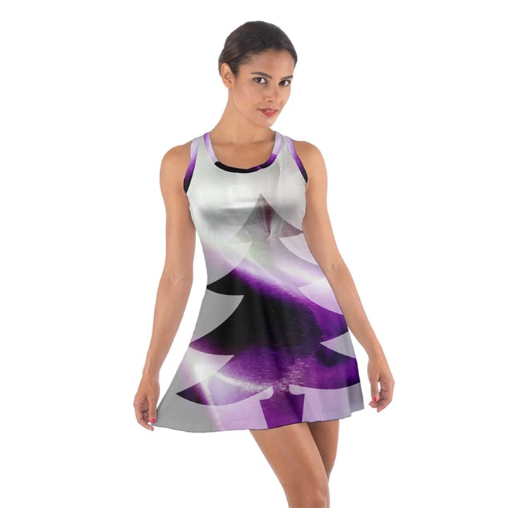 Purple Christmas Tree Cotton Racerback Dress
