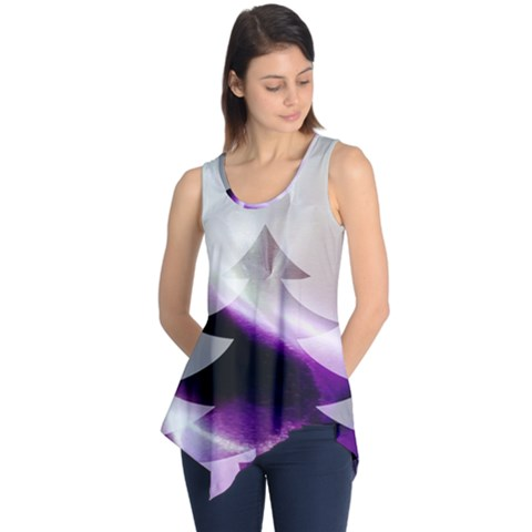 Purple Christmas Tree Sleeveless Tunic
