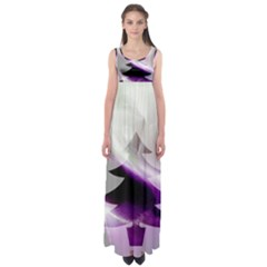 Purple Christmas Tree Empire Waist Maxi Dress