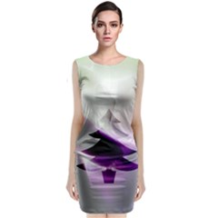 Purple Christmas Tree Classic Sleeveless Midi Dress