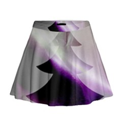 Purple Christmas Tree Mini Flare Skirt