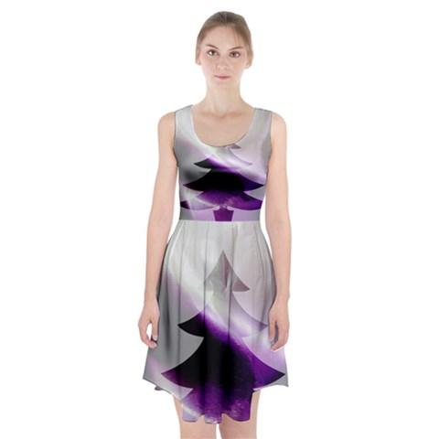 Purple Christmas Tree Racerback Midi Dress