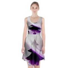 Purple Christmas Tree Racerback Midi Dress