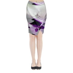 Purple Christmas Tree Midi Wrap Pencil Skirt