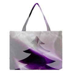 Purple Christmas Tree Medium Tote Bag