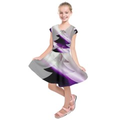 Purple Christmas Tree Kids  Short Sleeve Dress