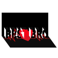 Hart bit BEST BRO 3D Greeting Card (8x4)